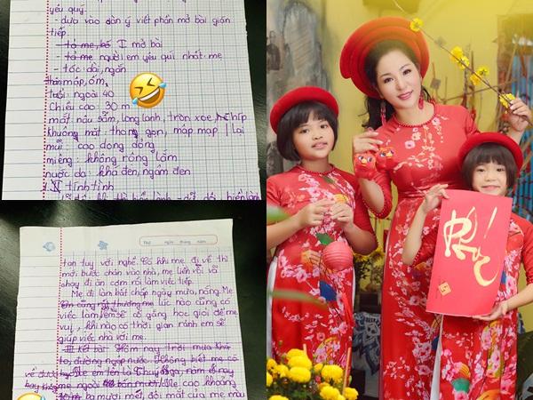 Thúy Nga dở khóc dở cười khi đọc bài văn con gái tả mẹ, dân tình 'cười té ghế'