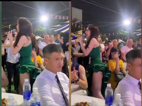 Thủy Tiên mặc đồ 'siêu ngắn' tha hồ nhún nhảy giao lưu khán giả, Công Vinh ngồi 'đơ người' không dám nhìn vào mặt vợ
