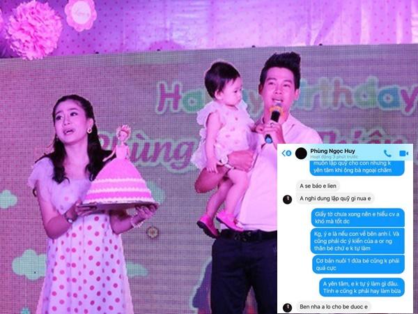 Tiết lộ tin nhắn Phùng Ngọc Huy lên tiếng về việc nuôi dưỡng bé Lavie
