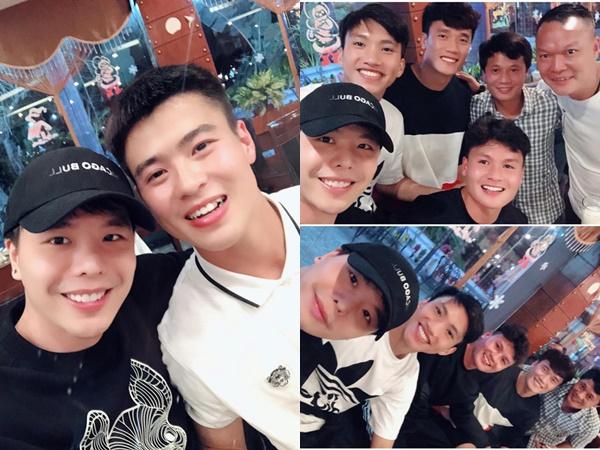 Trịnh Thăng Bình thăm đội bóng cũ có Quang Hải, Duy Mạnh và Văn Hậu