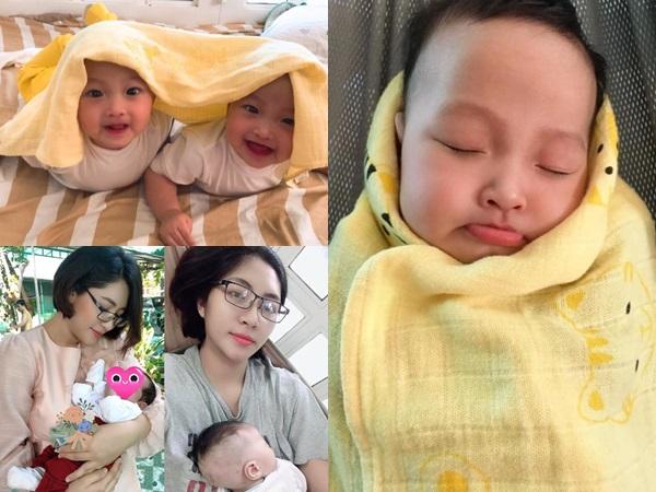 Vẻ kháu khỉnh của cặp song sinh nhà Hoa hậu Đặng Thu Thảo, giống nhau đến không nhận ra