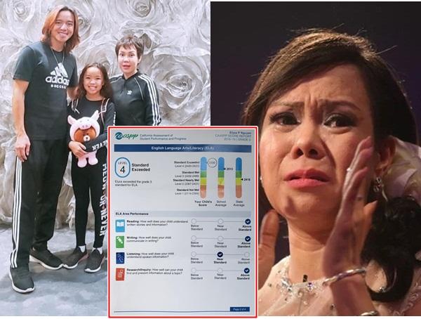 Vợ chồng Việt Hương suýt khóc khi xem thành tích học của con gái tại Mỹ