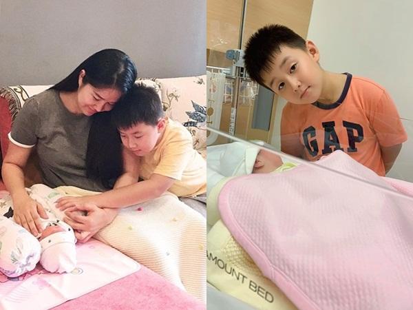 Vừa sinh con với chồng trẻ, Lê Phương ngậm ngùi vì không làm được điều này cho con trai riêng