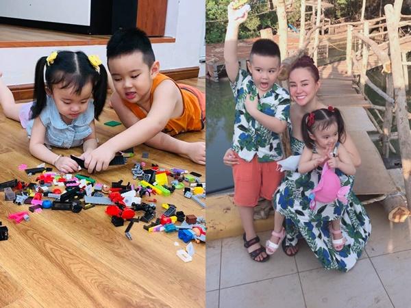 Vy Oanh thể hiện tình yêu với 2 con, bất ngờ nhất là diện mạo kháu khỉnh của 2 bé