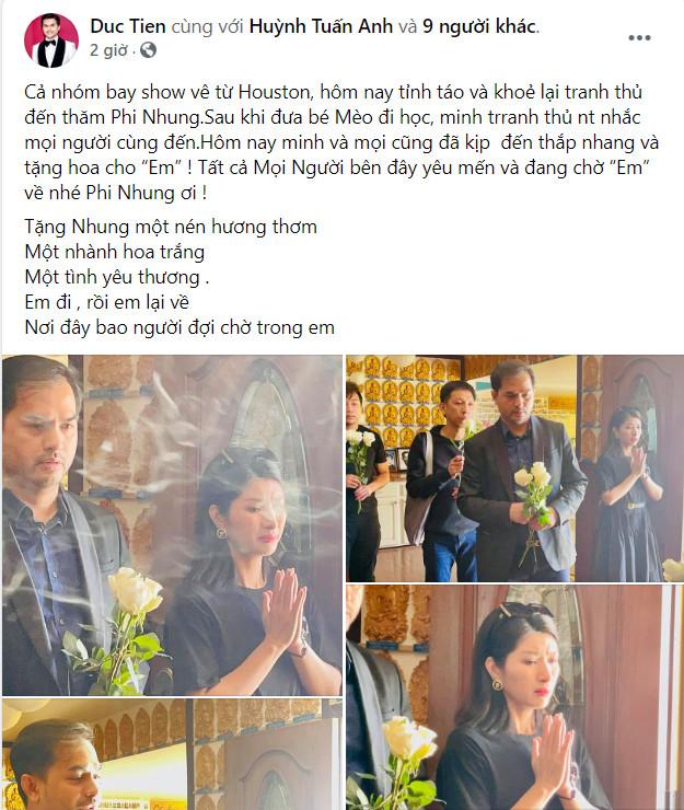 Con gái Phi Nhung lộ diện xanh xao, đôi mắt sưng húp trong tang lễ của mẹ tại Mỹ - Ảnh 1