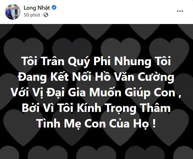 Long Nhật: 'Tôi đang kết nối Hồ Văn Cường với vị đại gia muốn tặng con căn nhà 5 tầng' - Ảnh 2