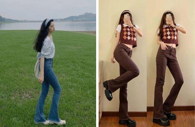 Kiểu quần jeans hack dáng cực đỉnh, vừa dài chân vừa tôn vòng 3 'đỉnh của chóp' đó các chị em - Ảnh 1