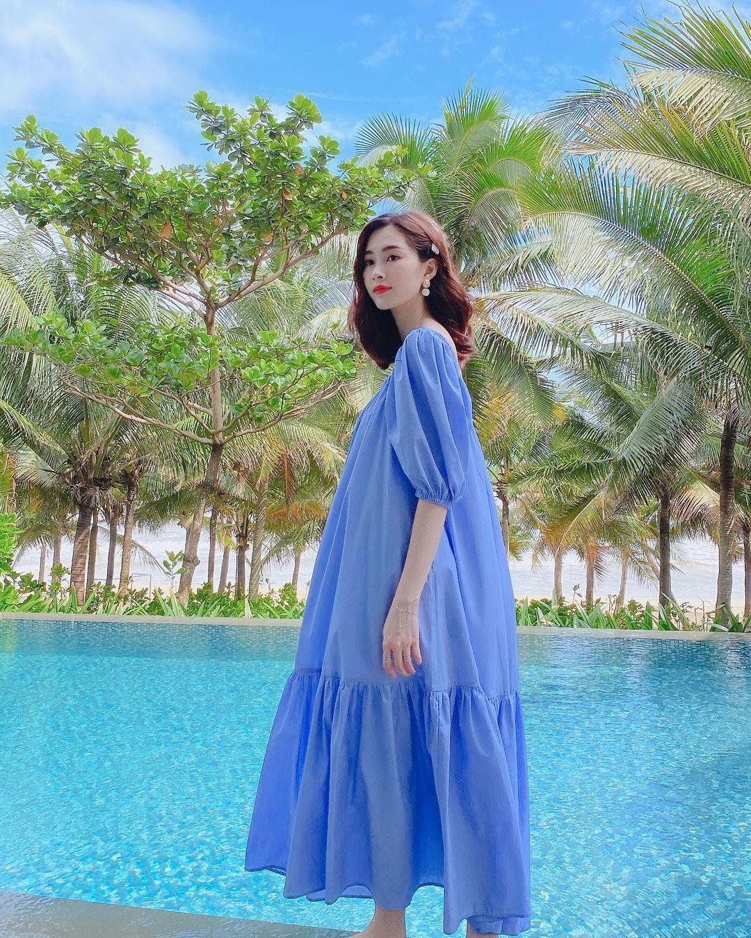HH Thu Thảo chuyên diện 3 màu trang phục tươi tắn này, bảo sao lúc nào cũng đẹp dịu dàng và trẻ hơn tuổi - Ảnh 9