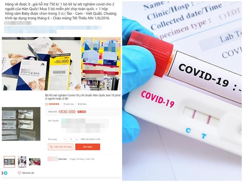 Bộ test nhanh COVID-19 'tràn ngập' MXH, giá rẻ bất ngờ, được người bán quảng cáo rầm rộ 'hàng xách tay' từ nước ngoài