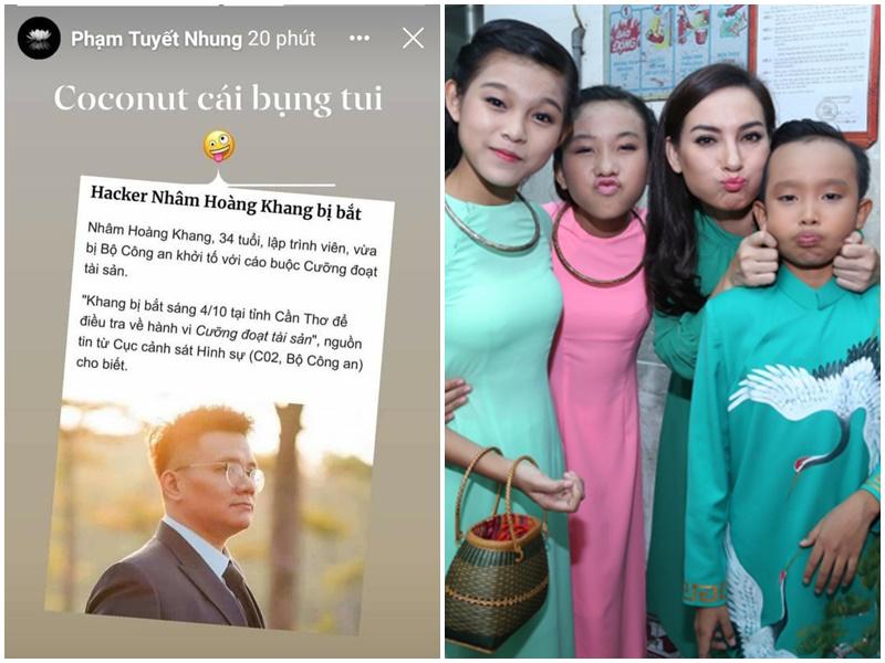 Con nuôi ca sĩ Phi Nhung 'mừng ra mặt' khi đọc tin Nhâm Hoàng Khang bị bắt: 'Vừa cái bụng tôi'