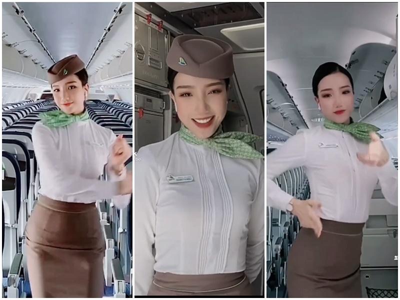 Nữ tiếp viên có body phồn thực nhất 'không trung' quẩy cực quyến rũ trong khoang máy bay khiến cư dân mạng điêu đứng