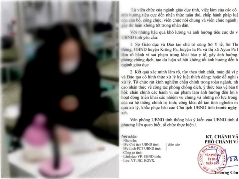 Gia Lai đề nghị xử lý 2 nữ giáo viên không trung thực, làm lây lan dịch bệnh, người trong cuộc nói gì?