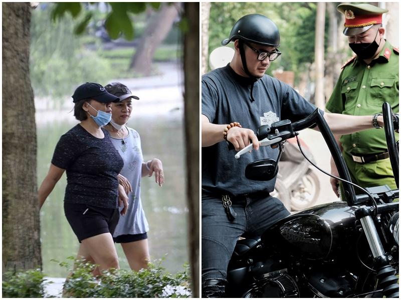 Hà Nội: Nhiều người vẫn tụ tập tập thể dục, không đeo khẩu trang, bất chấp kêu gọi ngưng ra đường