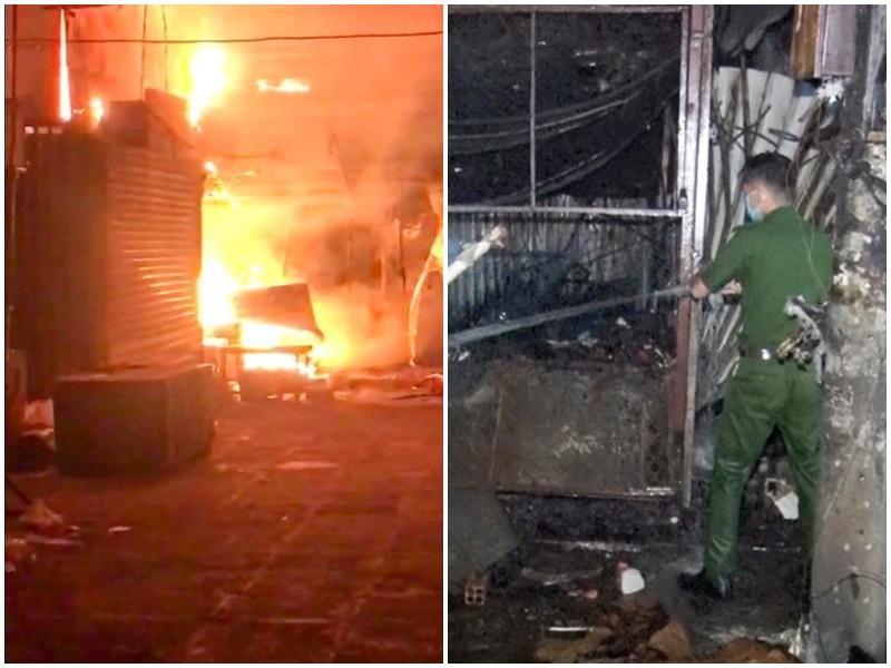 Hậu Giang: Cháy lớn chợ lớn trong đêm, thiệt hại khoảng 900 triệu đồng