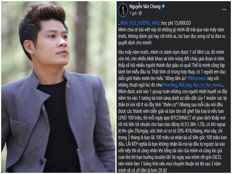 Mất trắng gần 350 triệu vào tiền ảo, nhạc sĩ Nguyễn Văn Chung lên tiếng: Đầu tư 100 triệu, 3 năm lấy được 20 tỷ?