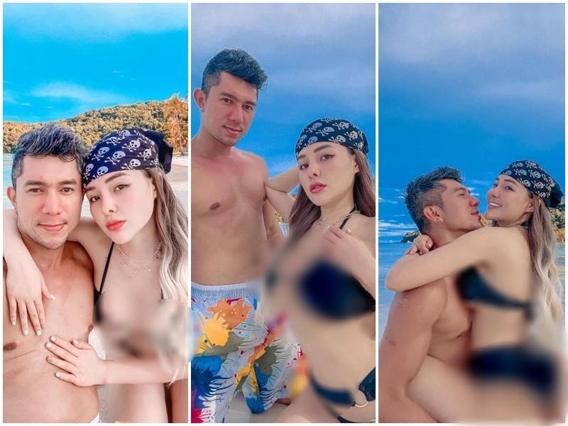 O ép vòng một 'ngộp thở' trong bộ bikini 'cọng bún', Ngân 98 khiến CĐM ngán ngẩm vì loạt tư thế suýt lộ 'vùng cấm địa' với bạn trai