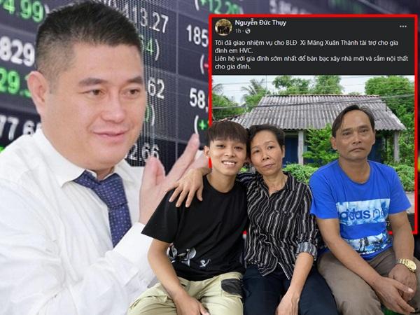 Sau tuyên bố hỗ trợ Hồ Văn Cường, bầu Thụy tiếp tục ra thông báo NÓNG - Xây nhà, 'sắm sửa' nội thất cho giọng ca nhí