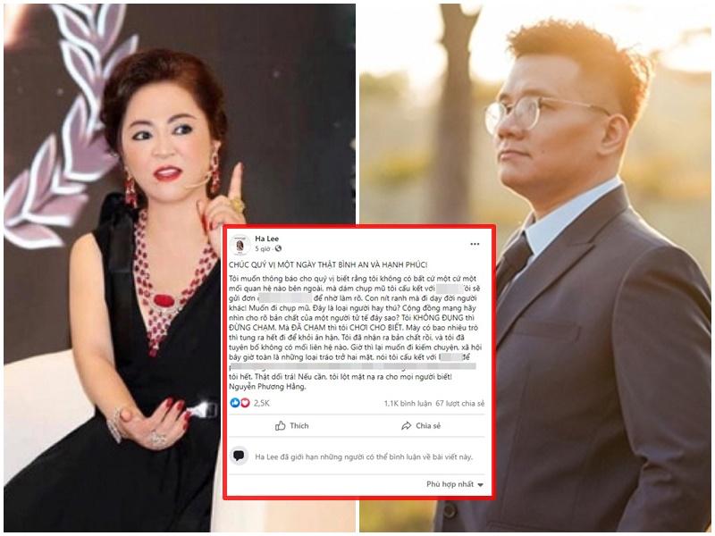 'Trở mặt thành thù' với Nhâm Hoàng Khang, bà Phương Hằng đòi 'lột mặt nạ' IT ruột vì 'con nít ranh mà lên mặt dạy đời'?