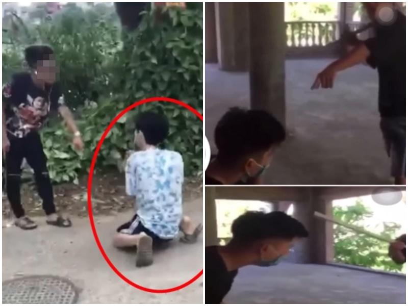 Vụ nam sinh đánh người ở Phú Thọ: Hé lộ nhiều góc quay ghi lại hành động bắt bạn quỳ gối để đá vào mặt