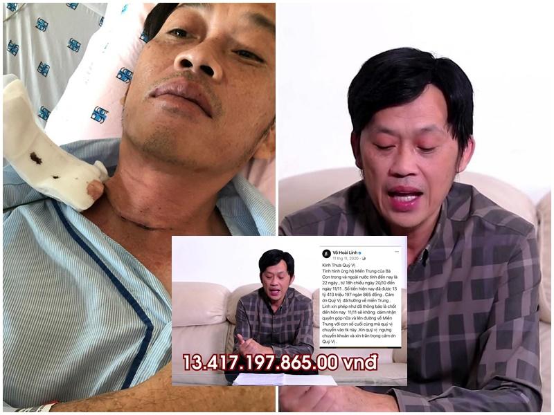 Lộ ảnh Hoài Linh tiều tụy nằm viện với vết cắt sâu ở cổ, đây là lý do thực sự khiến danh hài chậm trễ 14 tỷ đồng từ thiện?