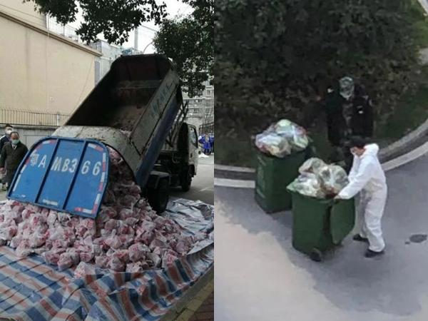 Dùng xe rác chở thịt cho người dân đang bị cách ly, quan chức Vũ Hán bị sa thải