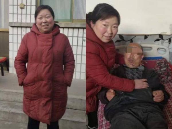 Dù tái hôn, người phụ nữ vẫn mang theo chồng và bố mẹ chồng cũ để chăm sóc
