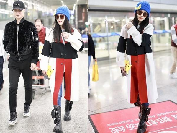 Sân bay bỗng trở thành sàn diễn thời trang của gia đình Phạm Băng Băng