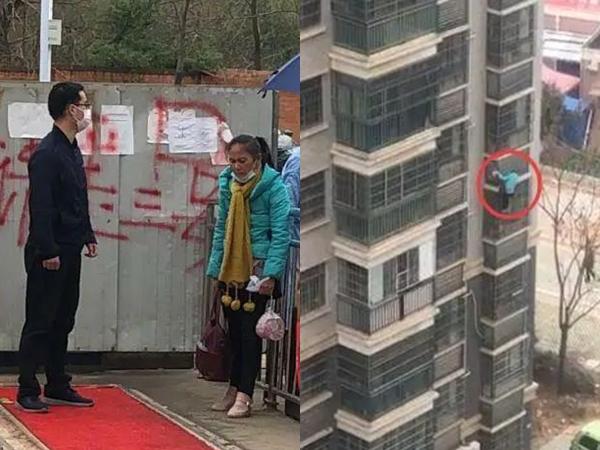 Tâm dịch Vũ Hán: Người phụ nữ 62 tuổi leo từ tầng 8 xuống đất khiến cộng đồng mạng 'dậy sóng'