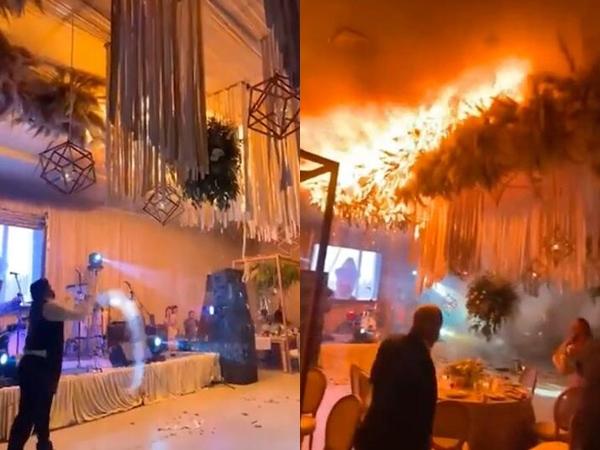 Trong phút chốc ngọn lửa nhấn chìm tất cả, hôn lễ bỗng trở thành bi kịch
