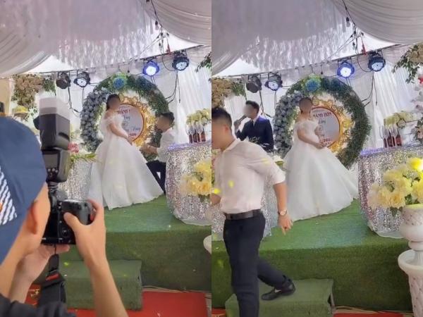 Đang làm lễ, chú rể bất ngờ tháo chạy bỏ cô dâu đứng chết sững trên sân khấu vì lý do éo le này