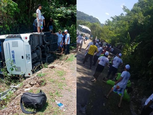 [Ảnh] Hiện trường vụ tai nạn khiến 9 người tử vong ở Quảng Bình, người tử vong, người bị thương nằm la liệt