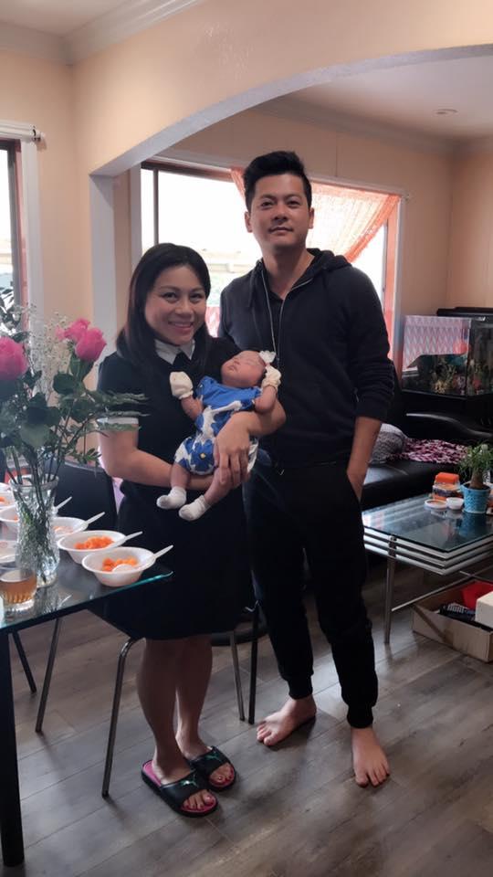 Diễn viên Hoàng Anh cùng vợ tổ chức tiệc đầy tháng cho con ở Mỹ - Ảnh 3