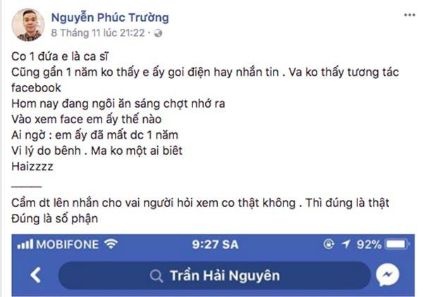 Giới nghệ sĩ Việt bất ngờ với tin nam ca sĩ đình đám đã qua đời từ năm 2016 - Ảnh 1