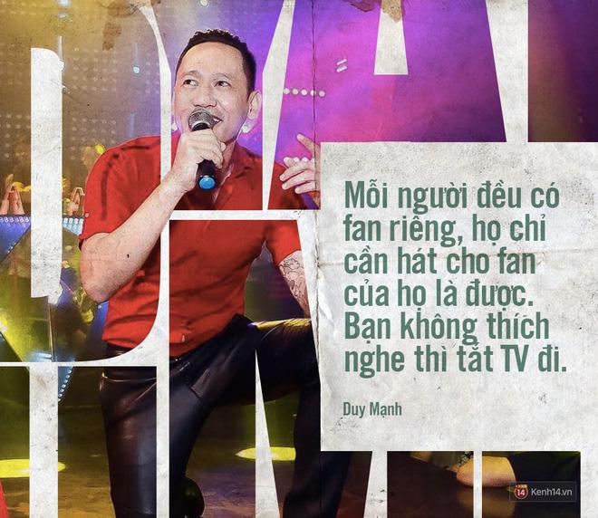 Trong câu chuyện của Chi Pu, Duy Mạnh cho rằng bản thân một nghệ sĩ xác định đi hát để đánh bóng tên tuổi, nếu như hát không tốt thì phần nhìn phải đẹp hay beat nhạc phải hay. Đây không phải điều quá lạ bởi nền giải trí tại Hàn Quốc cũng có rất nhiều trường hợp như thế