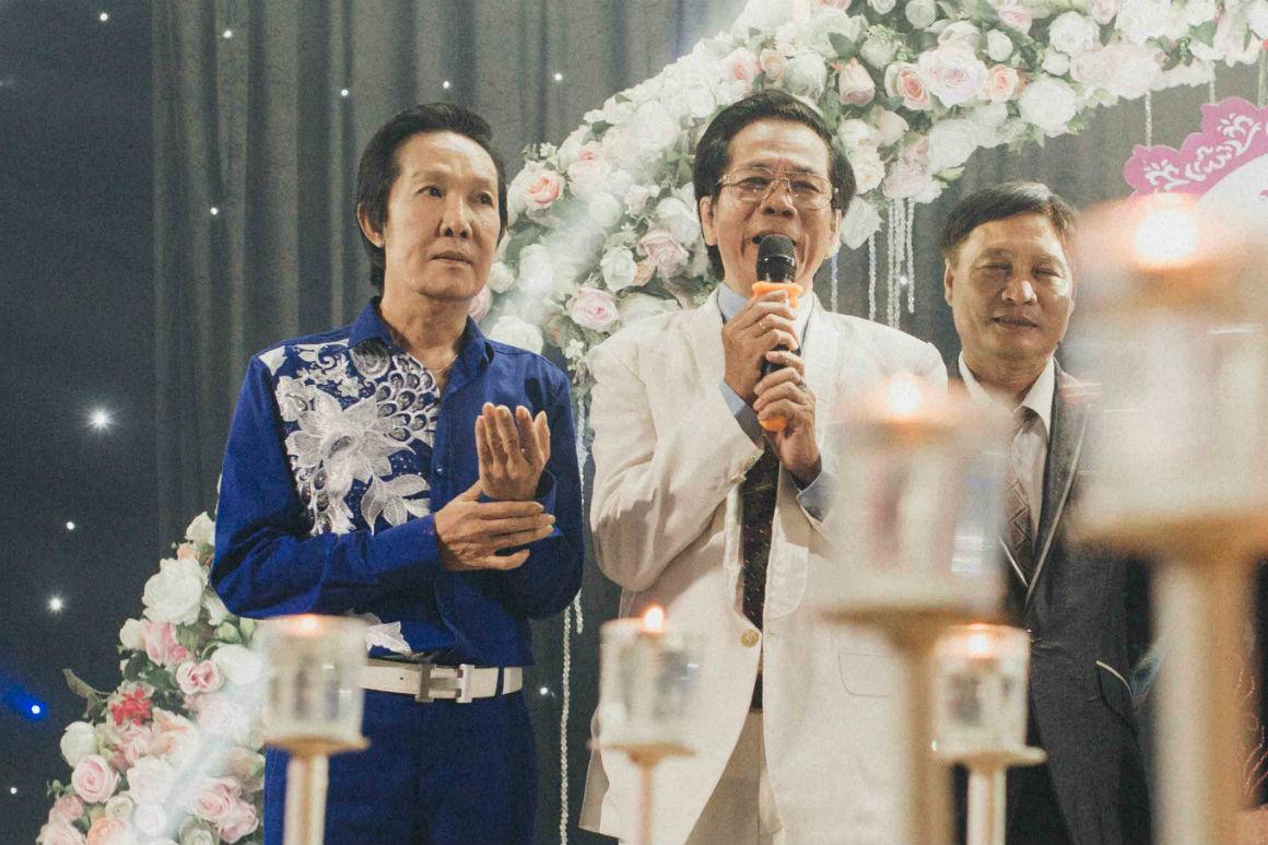 Nghệ sĩ cải lương đình đám Vũ Linh tái ngộ Thoại Mỹ trong đám cưới cháu gái - Ảnh 3