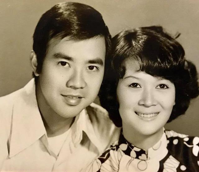 Ảnh thời trẻ của nghệ sĩ Bảo Quốc và vợ. Ảnh: FBNV.