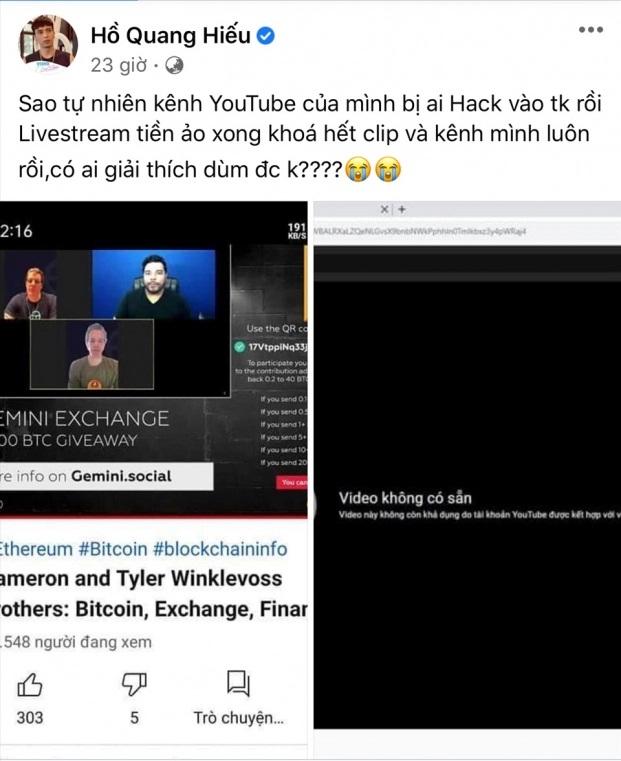 Trấn Thành bị hack kênh YouTube có hơn 4,5 triệu lượt đăng ký - Ảnh 3