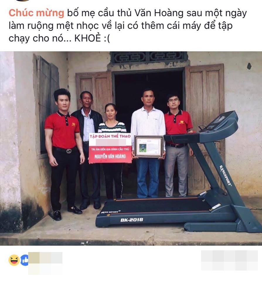 Gia đình khó khăn của thủ môn Văn Hoàng U23 được tặng máy chạy bộ khiến dân mạng bức xúc - Ảnh 2