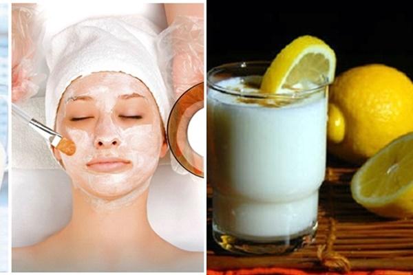 Mặt nạ dưỡng da sáng mịn với sữa tươi và chanh