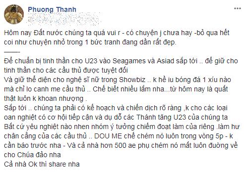 Khuyên cầu thủ U23 Việt Nam tránh xa 'gái hư' của showbiz, Phương Thanh, Vũ Ngọc Đãng khiến nhiều mỹ nhân 'thót tim' - Ảnh 2
