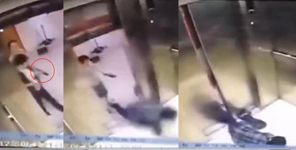 Dán mắt vào điện thoại, người phụ nữ bị thang máy nghiến đứt lìa chân - Ảnh 1