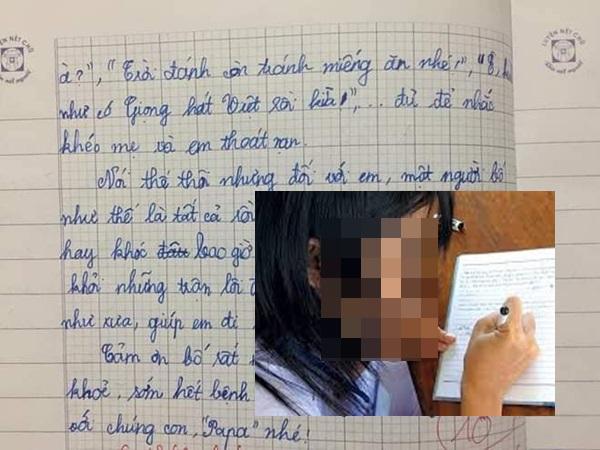 Bài văn tả bố của bé gái lớp 5 khiến dân mạng cười té ghế: 'Bố em bụng bự, trán dô, mắt láo liên, thường cùng con trùm chăn nói xấu vợ'