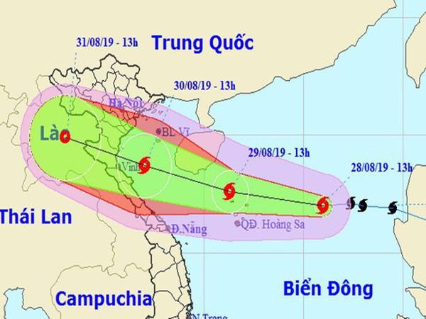 Bão số 4 đổ bộ Thanh Hóa - Quảng Bình chiều tối 30-8, mưa rất lớn