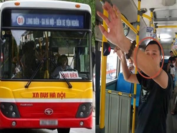 Bắt kẻ biến thái 'tự xử' cạnh nữ sinh cấp 2 trên xe buýt ở Hà Nội