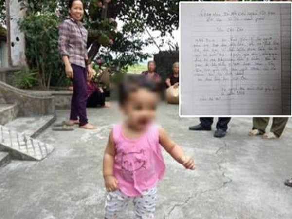"""Bé gái 1 tuổi bị mẹ bỏ rơi kèm lá thư """"cho con để đi lấy chồng"""" vẫn chưa có ai đến nhận"""