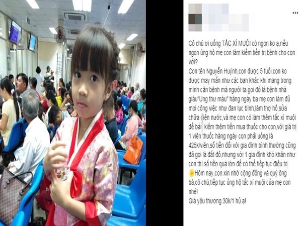 Cô bé 5 tuổi phụ ba mẹ bán tắc xí muội kiếm tiền chữa ung thư: 'Nếu ngon ủng hộ mẹ con làm kiếm tiền trị bệnh cho con với'