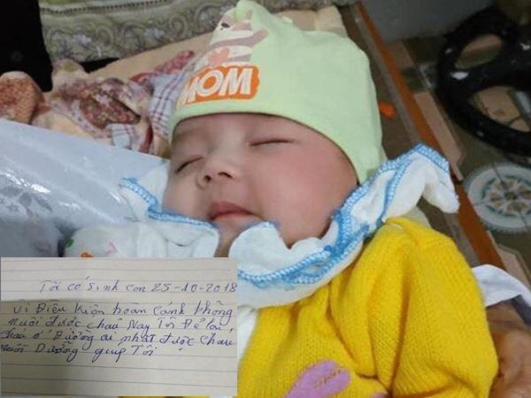 Bé gái hơn 2 tháng tuổi xinh như thiên thần bị mẹ bỏ rơi cùng bức thư: 'Ai nhặt được nuôi dưỡng giúp tôi'