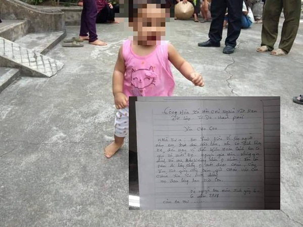 Bé gái xinh như thiên thần bị mẹ bỏ rơi kèm lá thư: 'Em còn phải đi lấy chồng không nuôi được cháu'