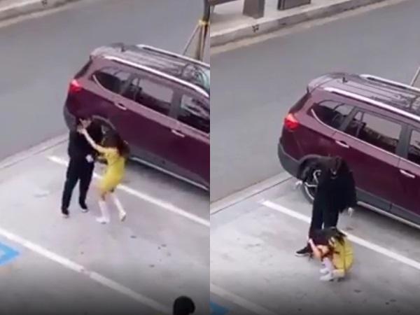 Bị bạn gái đánh giữa phố, chàng trai hùng hổ 'đáp trả' ai dè được dân mạng khen hết lời