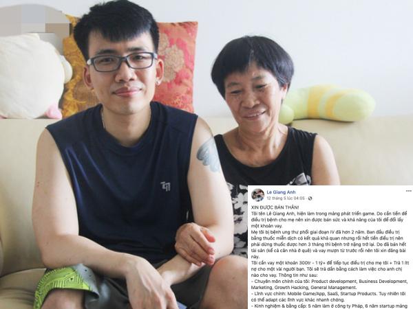 Chàng trai viết tâm thư 'xin bán thân' để cứu mẹ: 'Tội bất hiếu khi không có tiền chữa bệnh cho mẹ'